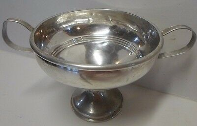 Vintage Sterling Silver Footed Double Handle Candy Dish Bowl NS Co.