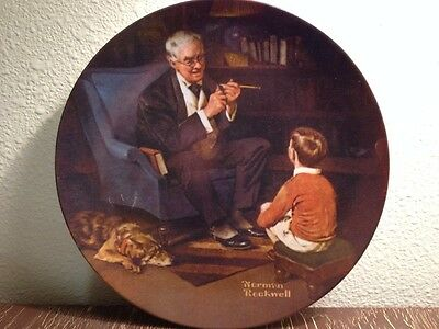 "Vintage Norman Rockwell ""The Tycoon"" Limited Edition Numbered Collector's Plate"