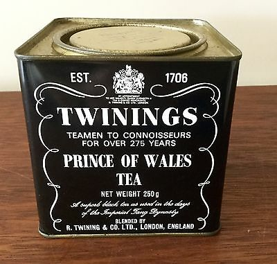 Collectable Twinings  Prince Of Wales Tea Tin - Now Empty