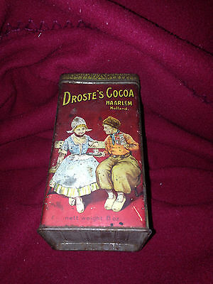 Vintage Droste's Cocoa Tin Can Free Shipping