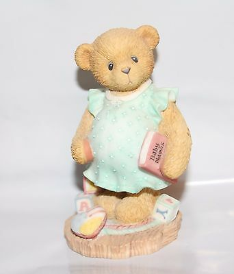 1998 ENESCO Cherished Teddies 476978 - Anxiously Awaiting the Arrival - BABY