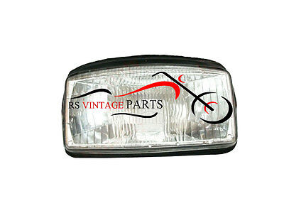 Brand New Vespa Headlight Lamp Unit Assembly With Rubber Beading T5