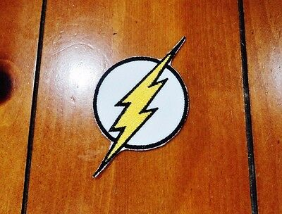 New Flash Superhero Barry Allen Embroidered Patch Applique Badge Iron-on Sew On