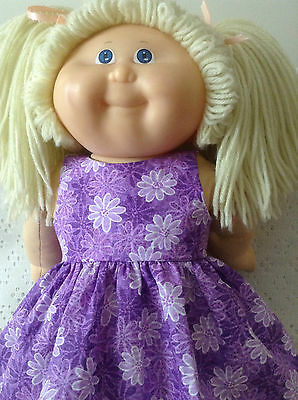 Dolls clothes  handmade fits CPK/Baby Born Lilac & White flowers Dress
