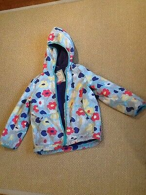 Girls Mini Boden Coat With Hood Age 7-8