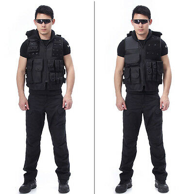 Mens Outdoor Sleeveless Tactical Vest Multi Pocket For Hunting Camping Hiking