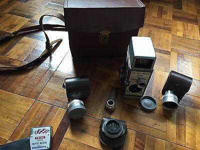 Bell And Howell Vintage Case And Camera With Attachments