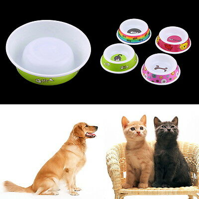 Plastic Pet Dog Cat Puppy Go Slow Eating Feed Bowl Food Water Feeder Dish LO