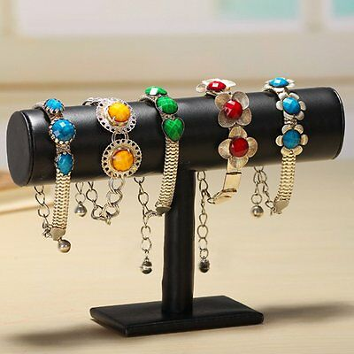 Velvet Bracelet Chain Watch T-Bar Rack Jewelry Hard Display Stand Holder new LO