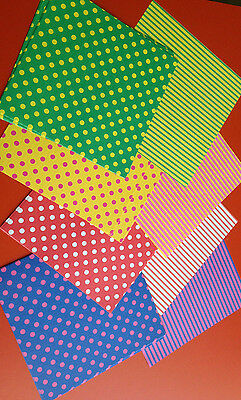 80 Sheets Double Sided Chiyogami Origami Paper One Side Dots OtherSide Stripes