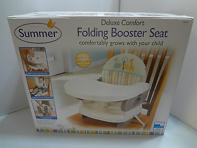 Summer Infant Deluxe Comfort Booster Baby Seat Toddler High Chair Adjustable TAN