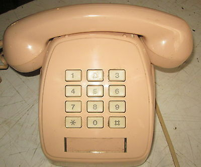 collectors 1985  push botton phone - STC / Telecom S1/504 - FAWN / PINK COLOUR
