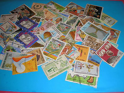 70 Timbres Caraibes Obliteres N° 115