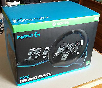 Logitech G920 Driving Force Racing Steering Wheel Xbox One & PC