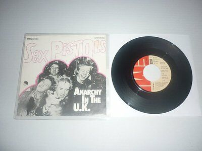 """Sex Pistols Anarchy In The UK .. EMI withdrawn German diff Pic Punk 7"""""""