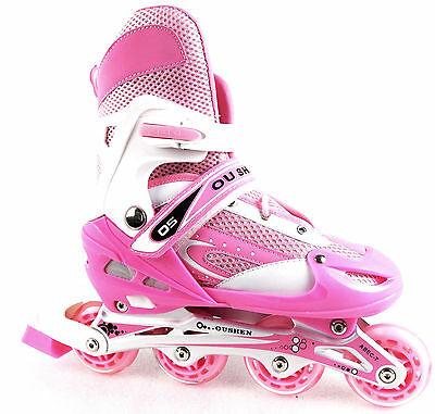 Girls Sizes Adjustable Inline Roller Skate Youth Size 11-6