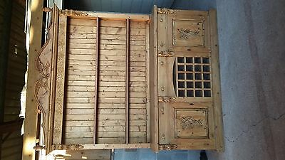 Stunning antique farmhouse - vintage - welsh real wood dresser - original ornate