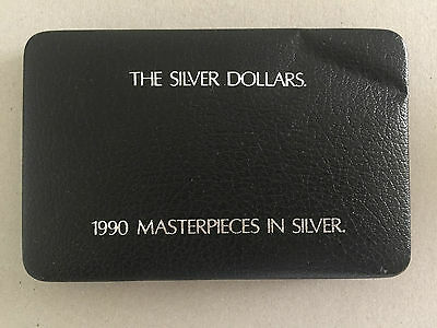 1990 Masterpieces In Silver Proof Set With Certificat (Damage)