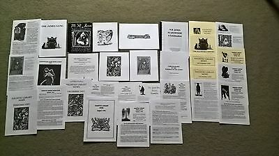 Mr James  Note Cards,  Magazine.collection.