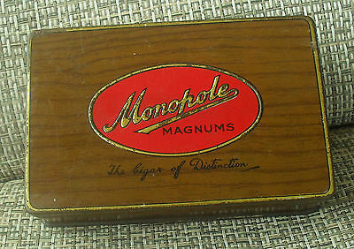 Monopole MAGNUMS Cigar Tin Vintage rare with original paper