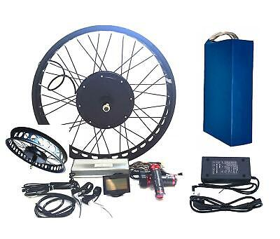 "LCD+72V25-35Ah Li-on Battery 3000W 26"" *4.0 FAT RIM Electric Bicycle E Bike Kit"