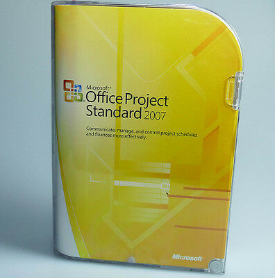 Microsoft Office Project Standard 2007 New Sealed 076-03745