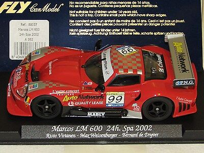 FLY A362 & 88037. MARCOS LM600. 24h Spa 2002. Used/Tested. Mint condition.