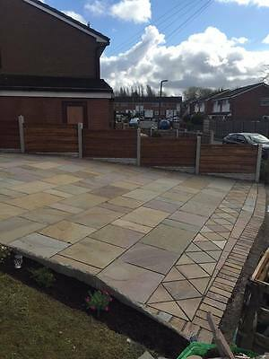 RAJ BLEND INDIAN STONE CALIBRATED 22mm PATIO PACK 20.25m2 MIXED SIZES