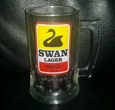 Rare Collectable Swan Lager Beer Glass Mug Brand New Never Used