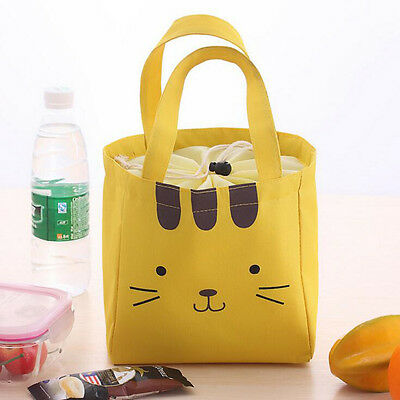 Kitty Portable Thermal Insulated Cooler Lunch Bag Storage Box Picnic Carry Tote