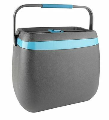 25L Deluxe Cooler Grey & Blue New Portable Picnic Camping Insulated Ice Cool Box