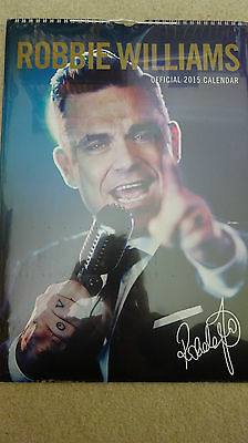 Bn Unopened & Sealed Official Robbie Williams 2015 Calendar