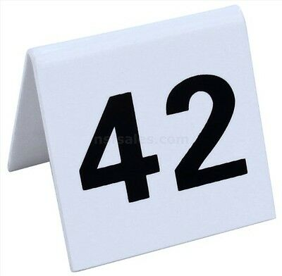 New Star Foodservice New Star 26764 26 to 50 Tent Style Acrylic Table Numbers, 2