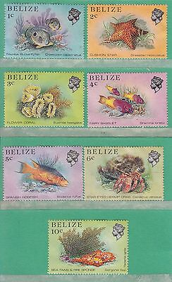 Belize 1984 7 Stamps Used Unfranked
