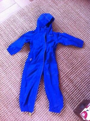 Blue Child's All In One Waterproof Overalls Boy Or Girl 3-4 Years