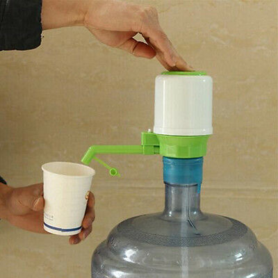 Manual Hand Press Pump for Water Bottle Jug Manual Drinking Tap Spigot Camping