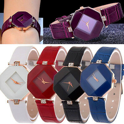 Women's Watch Diamond Faux Leather Rhinestone Quartz Analog Wrist Fashion Watch