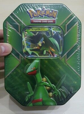 Sceptile Pokemon Tin - Brand New - Includes 1 Ex Holo And 4 Booster Packs!!!