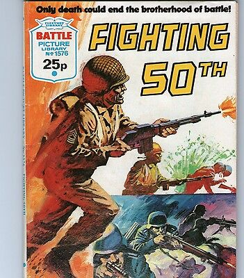 BATTLE PICTURE LIBRARY WAR COMIC No 1576 - 'FIGHTING 50TH'