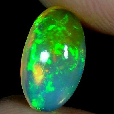 01.50Cts. 100% NATURAL RAINBOW FIRE ETHIOPIAN WELO OPAL OVAL CABOCHON GEMSTONES