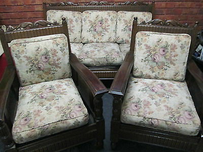Antique Jacobean Lounge Suite Original Condition   Pick Up Altona
