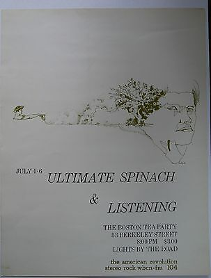 Ultimate Spinach/Listening - Original Boston Tea Party Poster July 1968