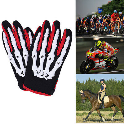 Skull Motorcycle Horse Gloves Bikers Full Finger Adults Winter Riding Glove