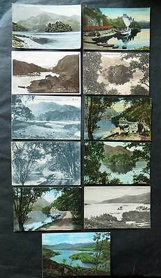 TROSSACHS Lot of 11 Postcards - Loch Katrine, Steamer, Ellen's Isle