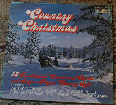 Country Christmas Lp! Vinyl Record! Contour! 2870 484! Charity!