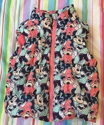 Girls Minnie Mouse Gilet Age 2-3 Years