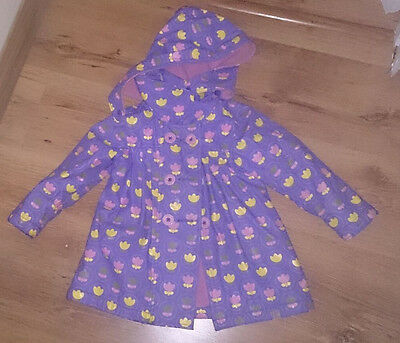 purple lined raincoat mac jacket from Brights and Stripes age 2-3 years vgc