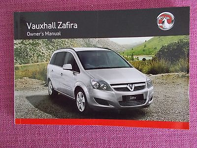 Vauxhall Zafira (2008 -2014) Owners Manual - Owners Guide - Handbook (Acq 5053)