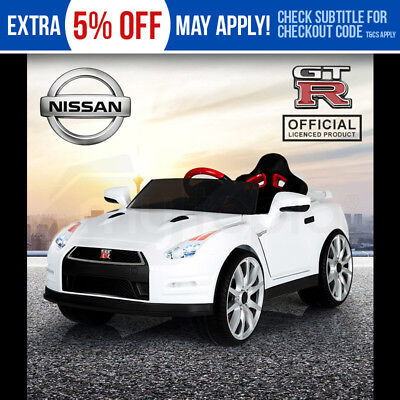 Kids Ride-On Electric Car Nissan GTR Licensed - GT-R Children Toy Sports White