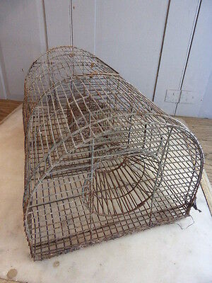 Vintage French wirework rodent or rat trap - humane